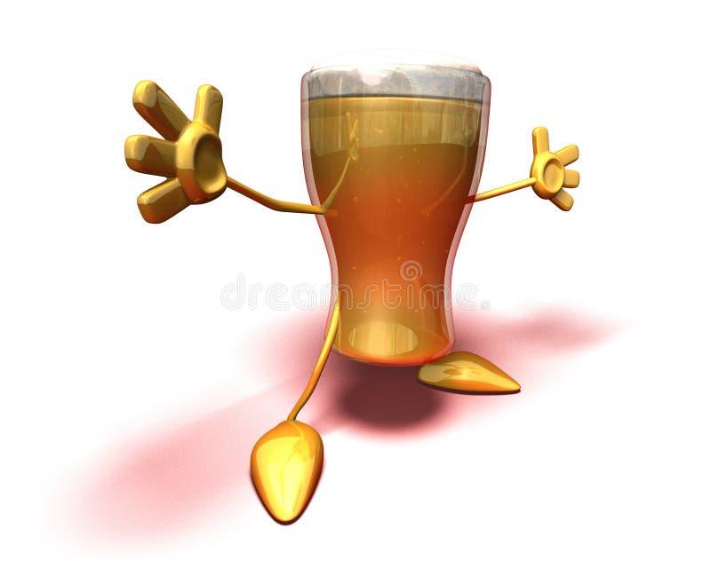 szczęśliwy piwa. ilustracja wektor