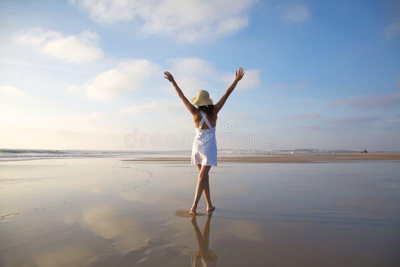 szczęśliwy plażowy castilnovo zdjęcie stock