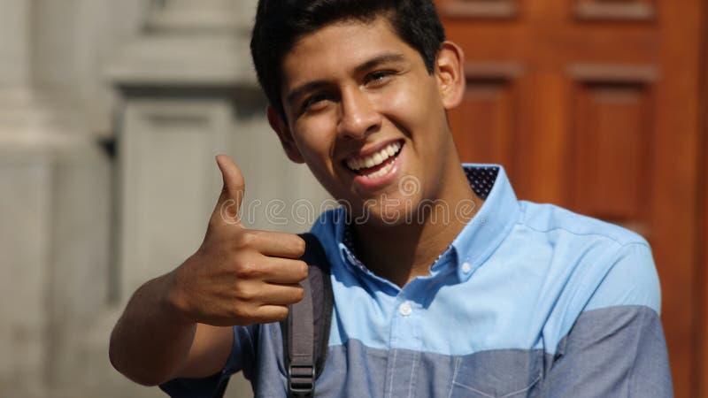 Szczęśliwy Pomyślny student collegu zdjęcia stock