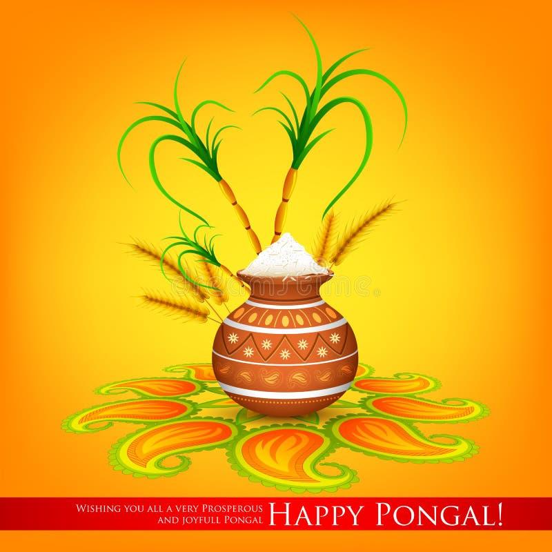 Szczęśliwy Pongal royalty ilustracja