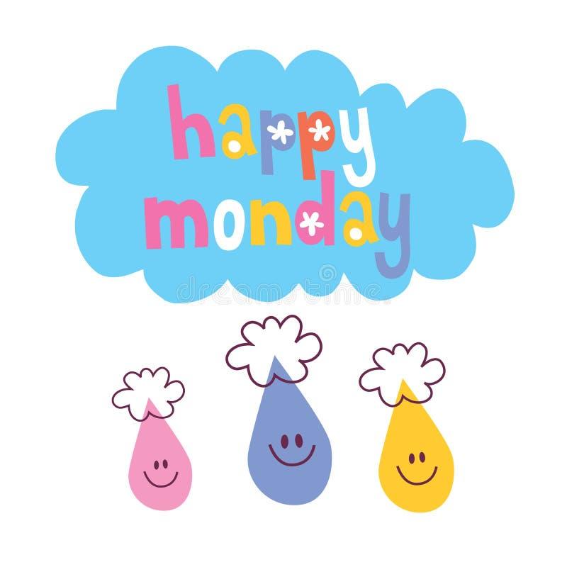 Szczęśliwy Poniedziałek royalty ilustracja