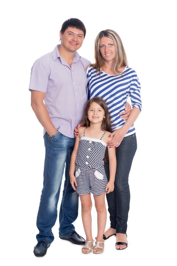szczęśliwy portret rodzinny obrazy royalty free