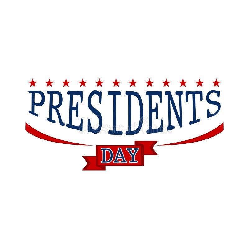 Szczęśliwy prezydent dzień ilustracja wektor