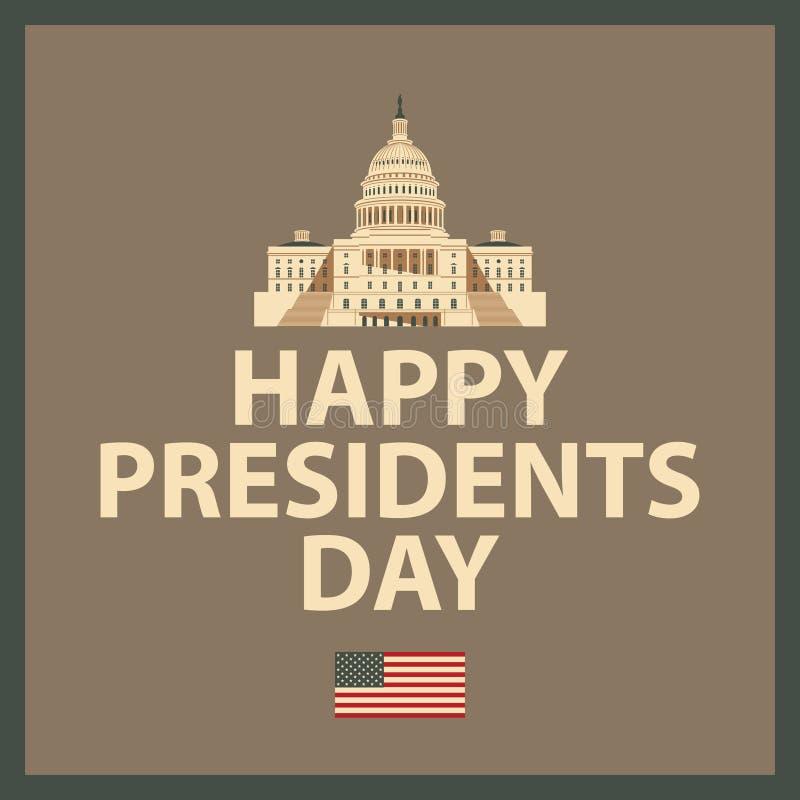 Szczęśliwy prezydent dzień royalty ilustracja