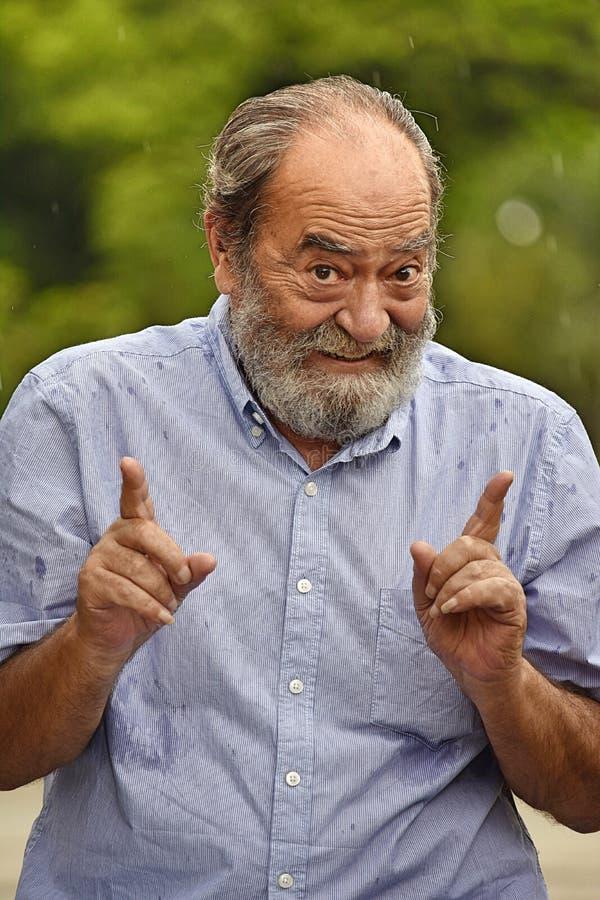 Szczęśliwy Przechodzić na emeryturę Męski dziadunio fotografia royalty free