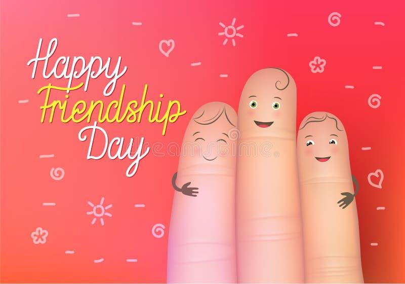 Szczęśliwy przyjaźń dnia plakat royalty ilustracja