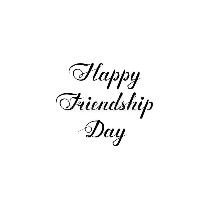 Szczęśliwy przyjaźń dnia tekst R?cznie pisany kaligraficzna inskrypcja projektuje element dla kartki z pozdrowieniami, koszulka,  ilustracji