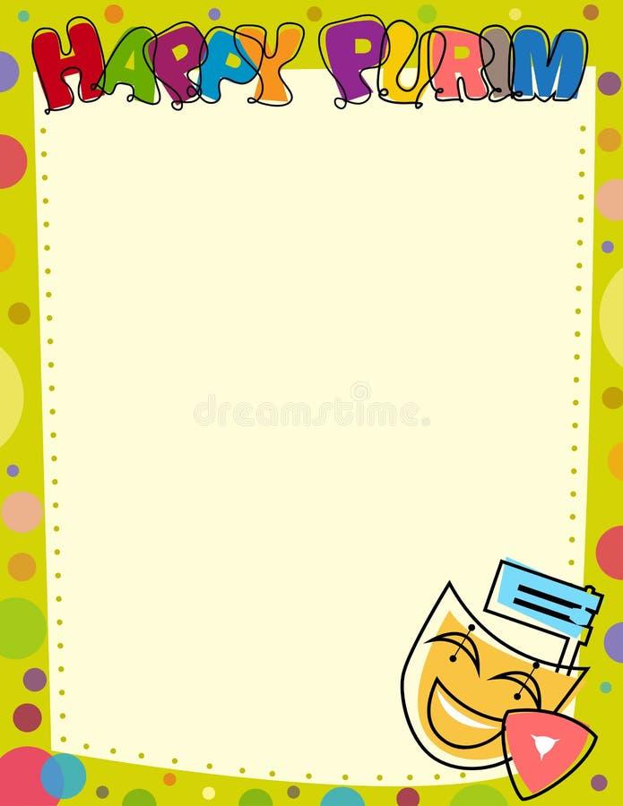 Szczęśliwy Purim pustego miejsca znak ilustracja wektor