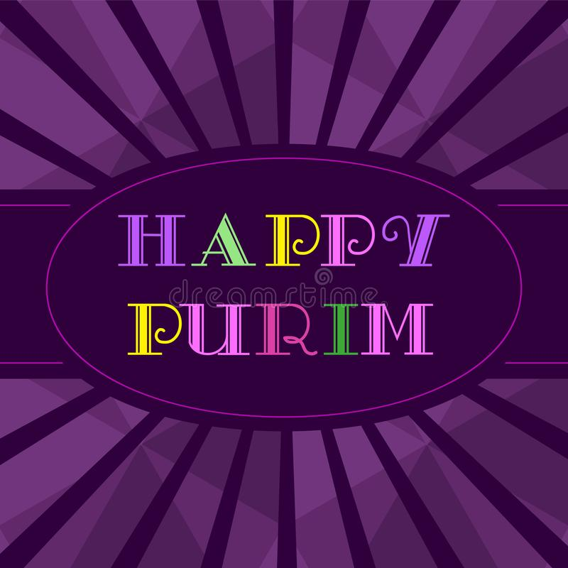 Szczęśliwy Purim wakacje royalty ilustracja