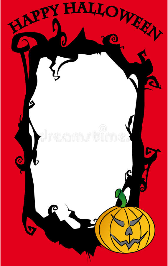 szczęśliwy ramowy Halloween royalty ilustracja