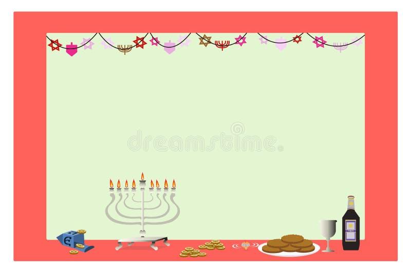 szczęśliwy ramowy Hanukkah ilustracji