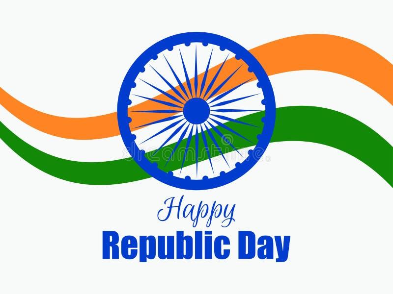Szczęśliwy republika dzień India Flaga państowowa i simbol India wektor royalty ilustracja