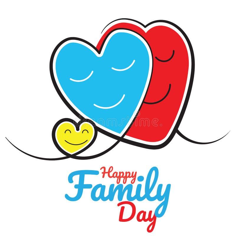Szczęśliwy rodzinny dnia wektor Abstrakcjonistyczna rodziny ikona royalty ilustracja