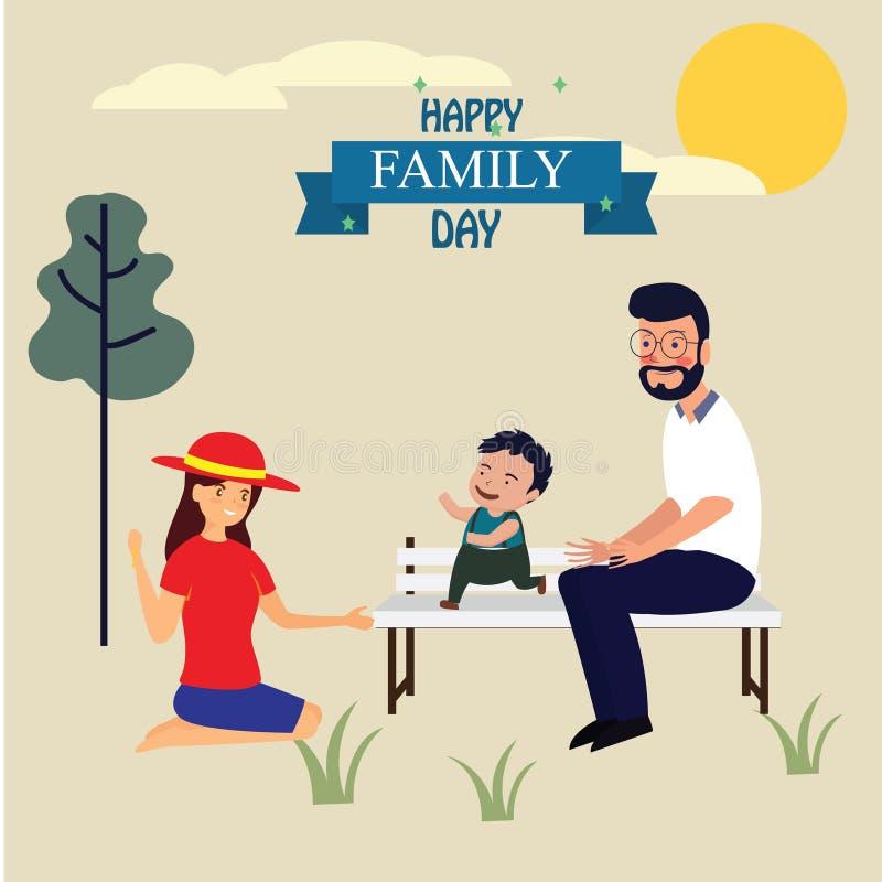 Szczęśliwy Rodzinny dzień! Znakomita prezent karta Modna kaligrafia r?wnie? zwr?ci? corel ilustracji wektora zostaw ilustracja pr royalty ilustracja