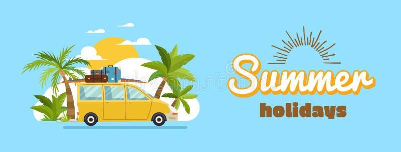 Szczęśliwy rodzinny jeżdżenie w samochodzie na weekendowym wakacje, wakacje letni, planistyczni wakacje, podróż samochodem, lato zdjęcia stock
