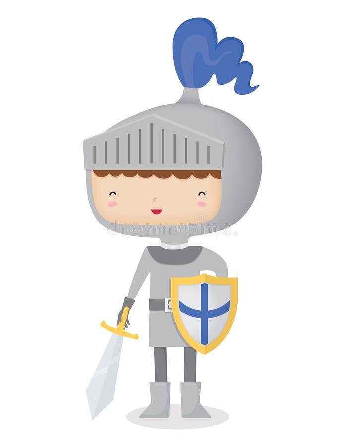 Szczęśliwy rycerz royalty ilustracja