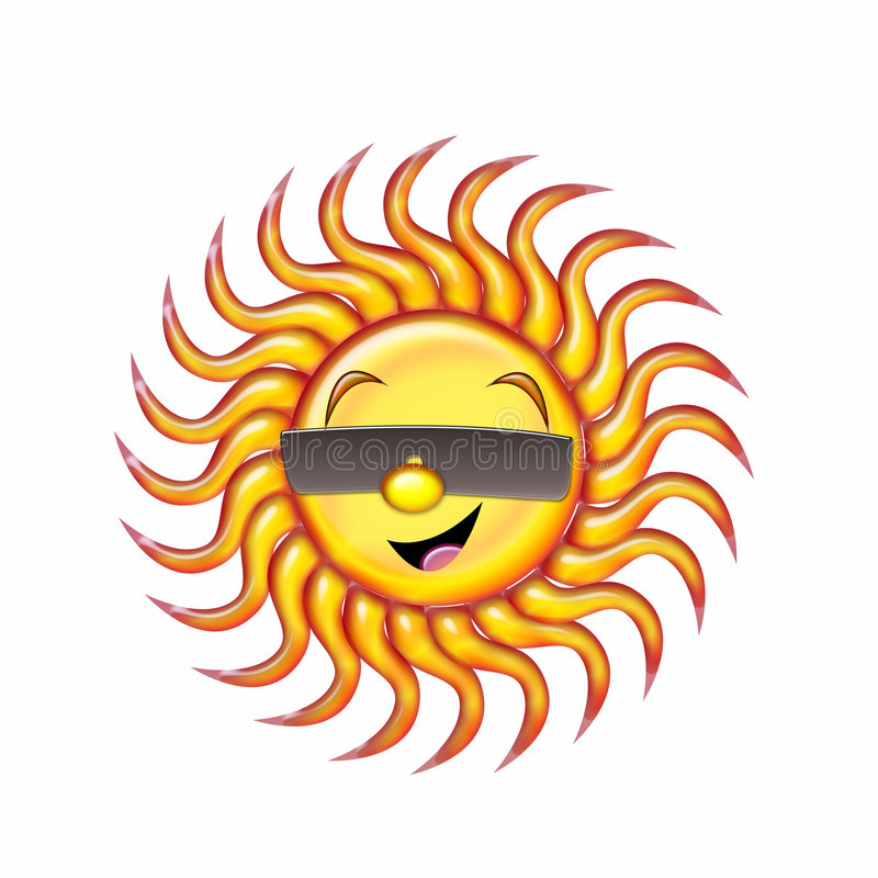 szczęśliwy słońce royalty ilustracja