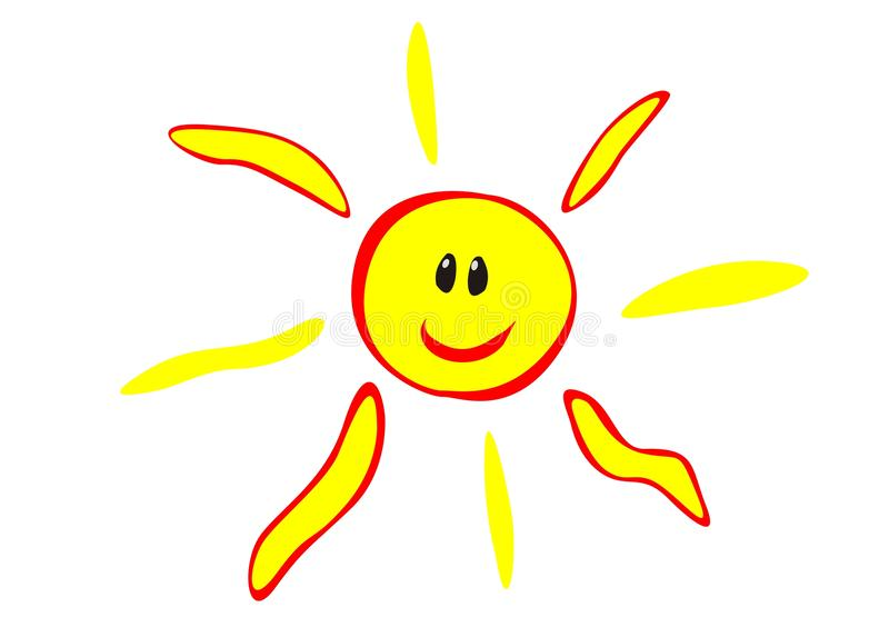 szczęśliwy słońce ilustracji