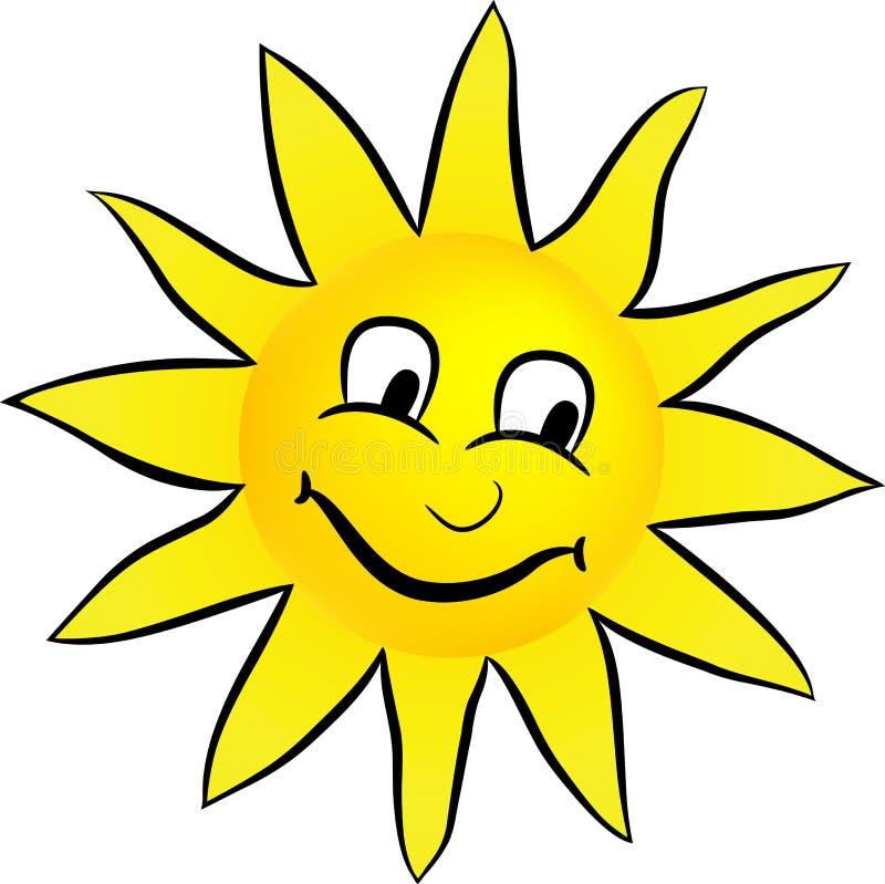 szczęśliwy słońce uśmiecha się royalty ilustracja