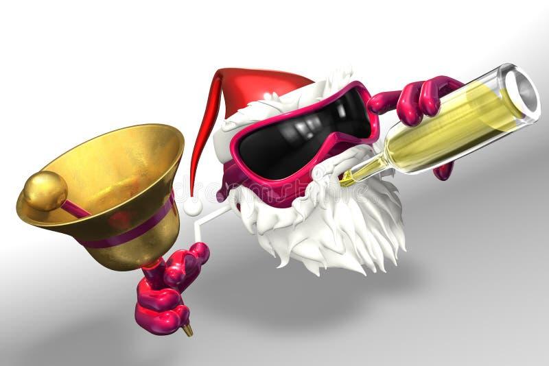 szczęśliwy Santa royalty ilustracja