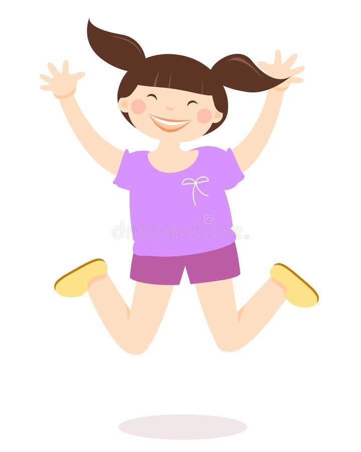 szczęśliwy skok ilustracji