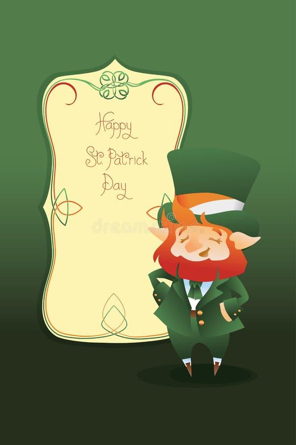 Download Szczęśliwy St Patrick Dnia Gratters Kreskówki Leprechaun Ilustracja Wektor - Ilustracja złożonej z celt, plakat: 57653865