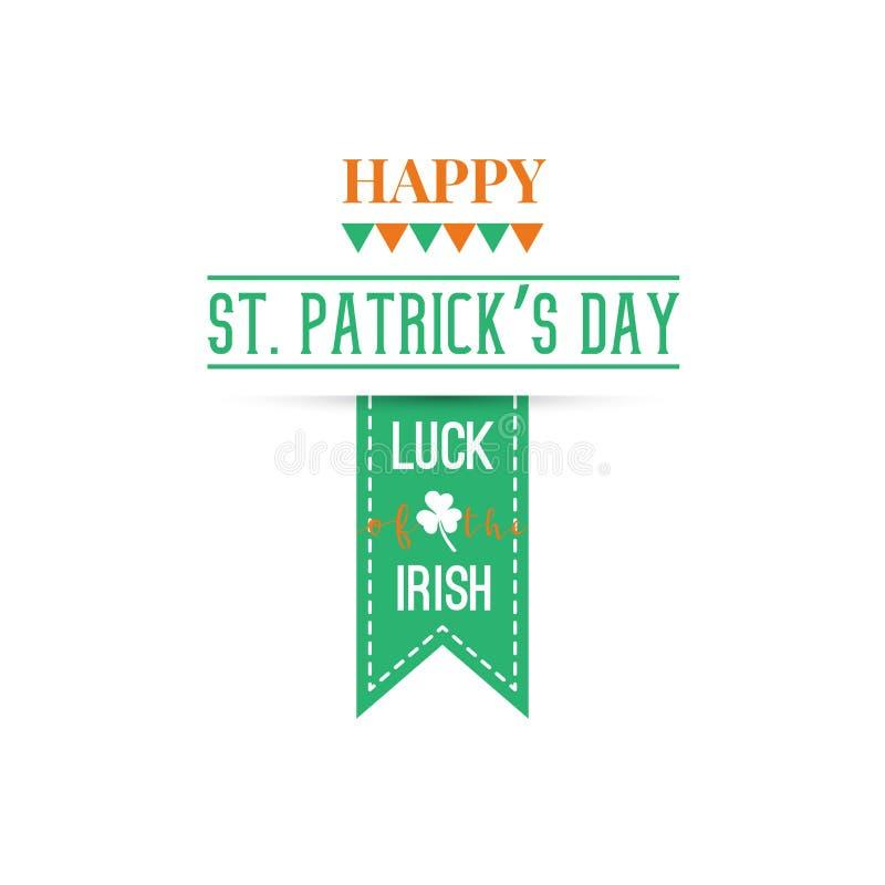 Szczęśliwy St Patrick dnia sztandar ilustracja wektor