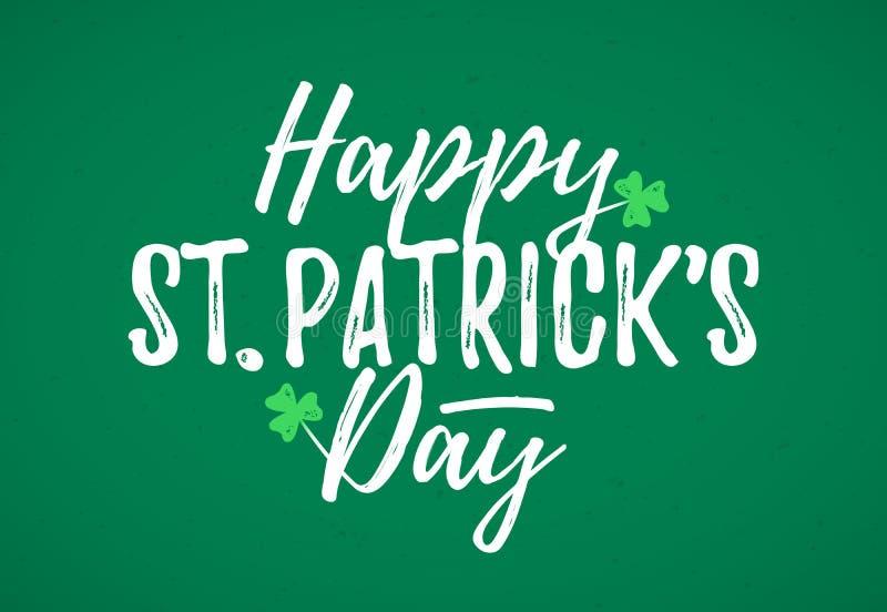 Szczęśliwy St Patrick ` s dnia kartka z pozdrowieniami royalty ilustracja