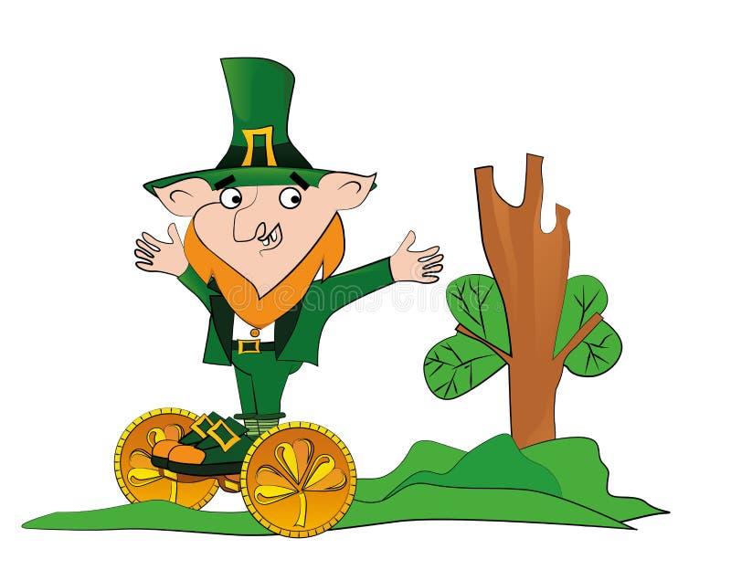 Szczęśliwy St Patricks dnia świętowanie royalty ilustracja