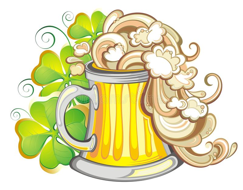 Szczęśliwy St Patricks dnia przyjęcia plakat zaprasza royalty ilustracja