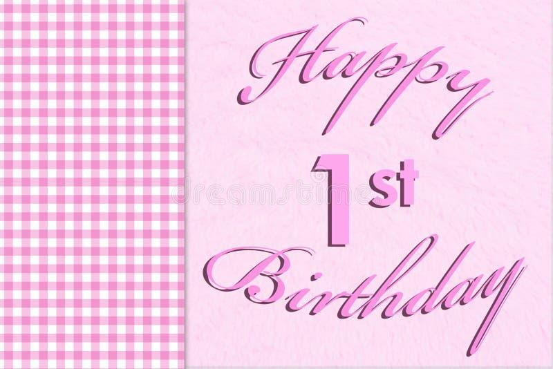 Szczęśliwy 1st urodziny fotografia royalty free
