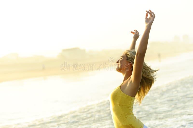 Szczęśliwy, stres uwalnia kobiety zdjęcia stock