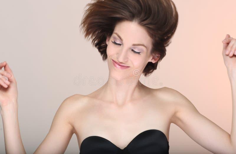 Szczęśliwy stylu życia wizerunek Piękna kobieta obrazy royalty free
