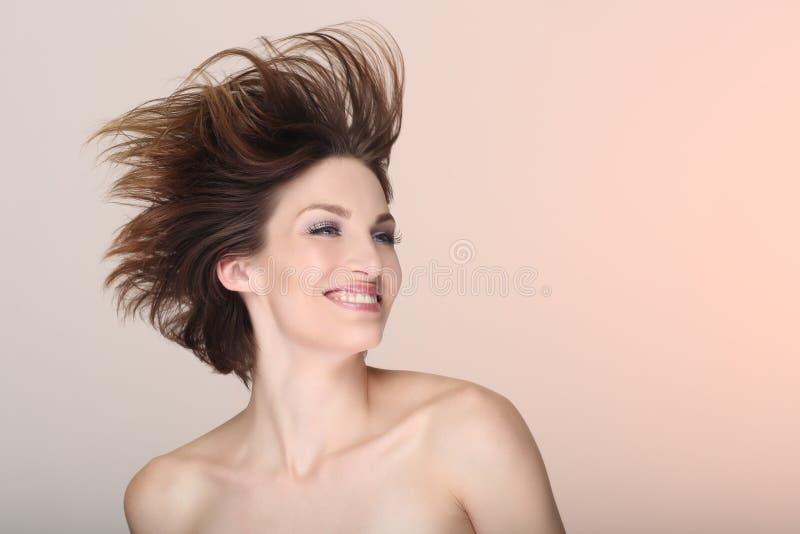 Szczęśliwy stylu życia wizerunek Piękna kobieta zdjęcia royalty free