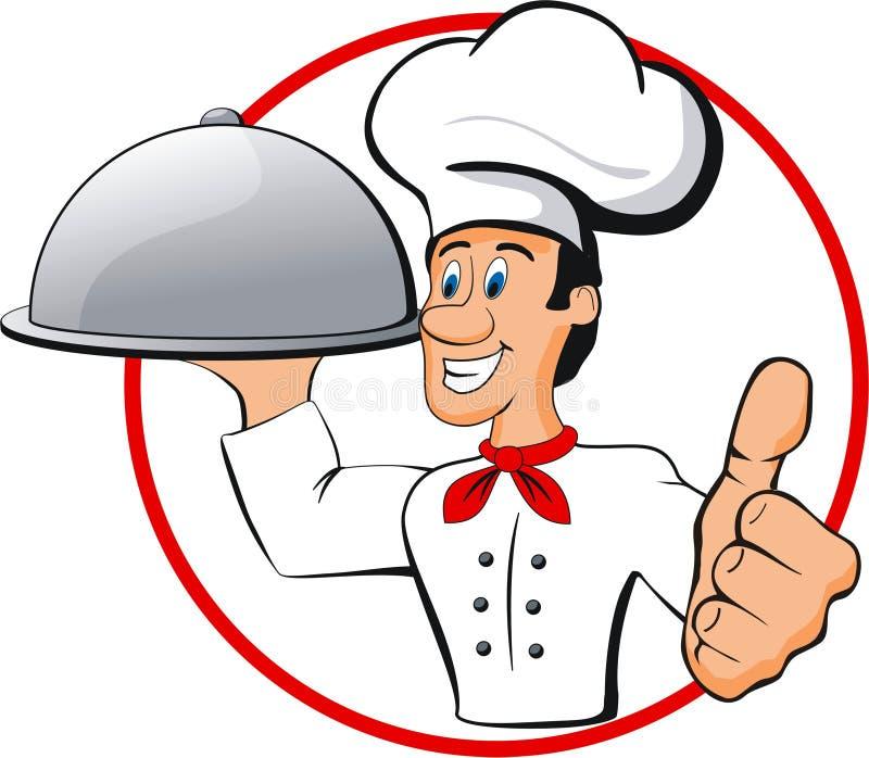 Szczęśliwy szef kuchni royalty ilustracja