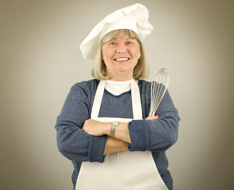szczęśliwy szef kuchni senior obrazy stock