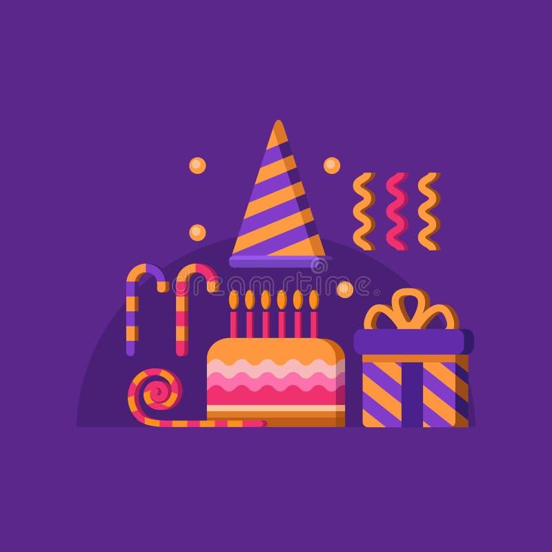 szczęśliwy sztandaru urodziny zdjęcia royalty free