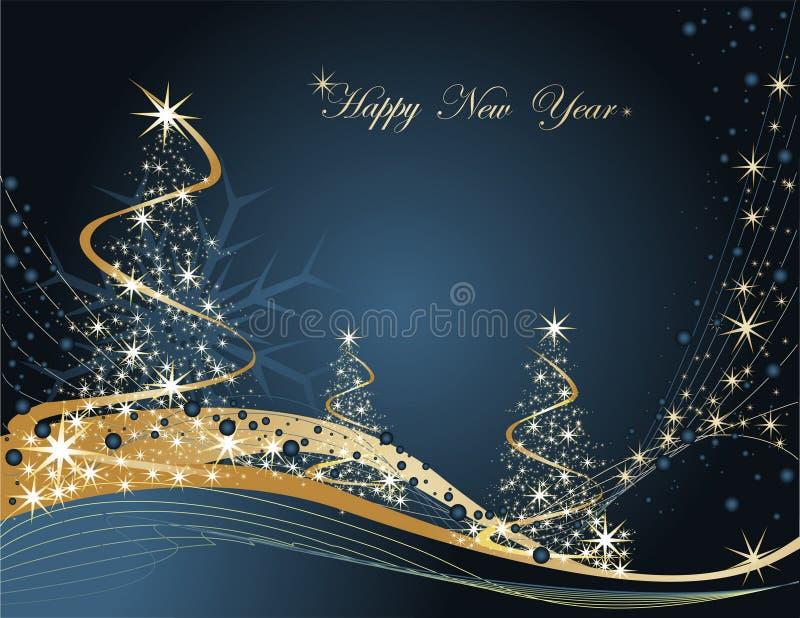 szczęśliwy tło nowy rok ilustracja wektor