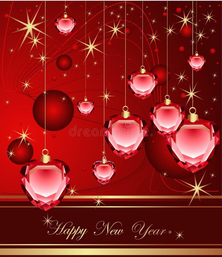 szczęśliwy tło nowy rok royalty ilustracja