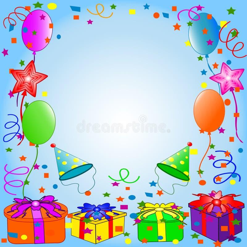 szczęśliwy tło urodziny ilustracja wektor