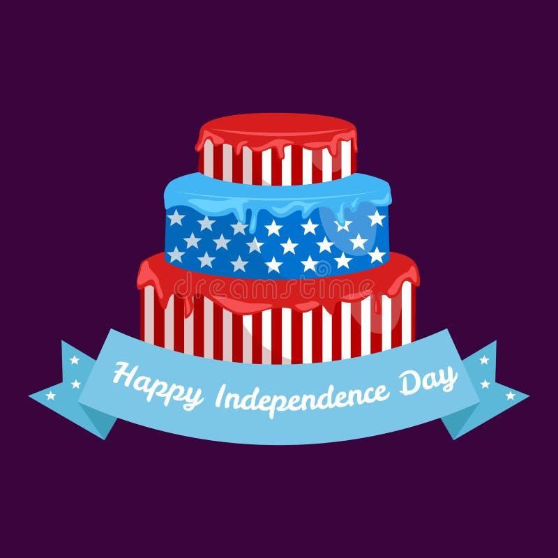 Szczęśliwy 4th Lipiec, dnia niepodległości Wektorowy projekt, usa royalty ilustracja