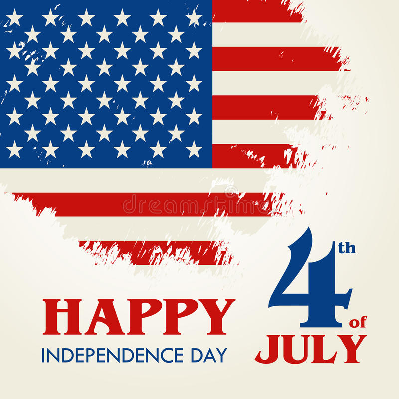 Szczęśliwy 4th Lipiec - dzień niepodległości Stany Zjednoczone Ameryka royalty ilustracja