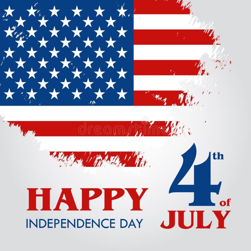 Szczęśliwy 4th Lipiec - dzień niepodległości Stany Zjednoczone Ameryka ilustracji