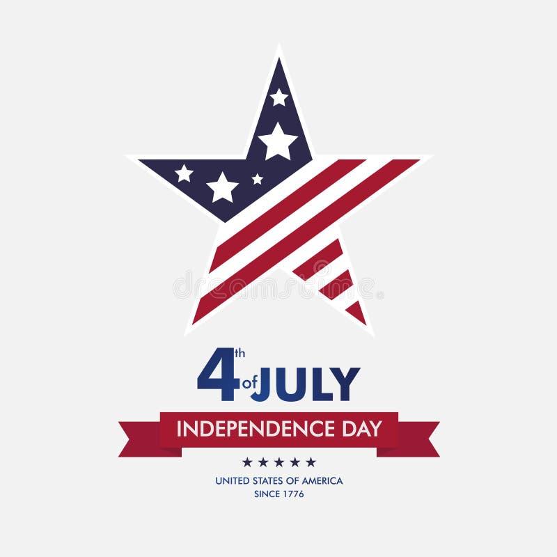 Szczęśliwy 4th Lipiec niezależność Day-015 ilustracja wektor