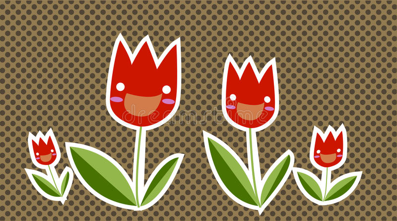 szczęśliwy tulipan royalty ilustracja