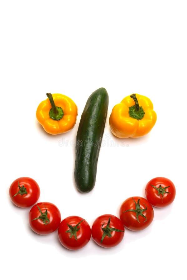 szczęśliwy twarz się wegetariańskie roślinnego zdjęcie stock