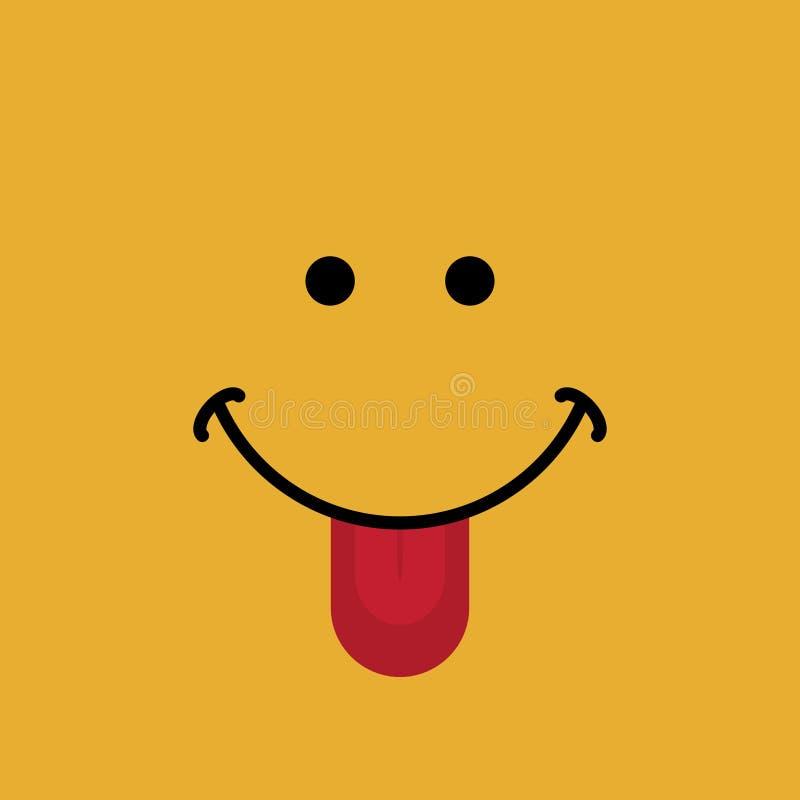 Szczęśliwy twarz sztandar z uśmiech wyrażeniową wektorową ilustracją ilustracji
