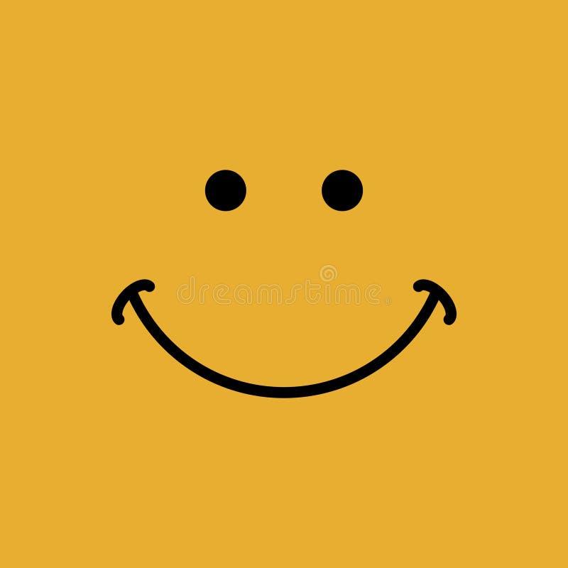 Szczęśliwy twarz sztandar z uśmiech wyrażeniową wektorową ilustracją royalty ilustracja