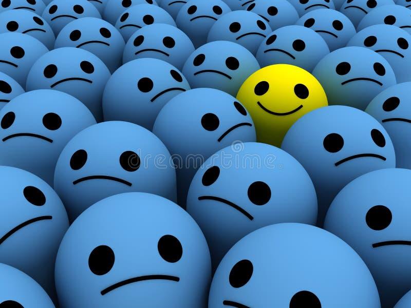 Szczęśliwy uśmiech ilustracja wektor
