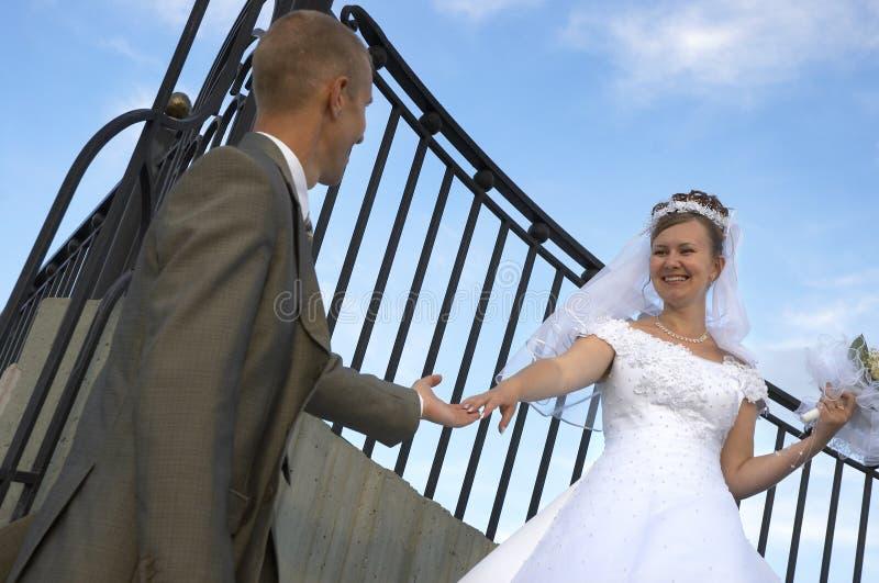 szczęśliwy uśmiech na ślub zdjęcia stock